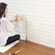 3d ziegelstein wandaufkleber diy wasserdicht selbstklebende dekorative tapete 3d steinoptik ziegel tapete für wohnzimmer tv wand hintergrund