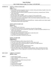 Resume Title Examples For Secretary Office Samples On Work Objective Targer Golden Drago