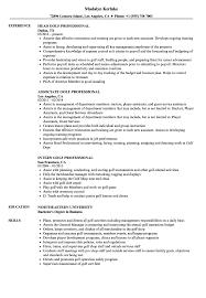 Download Golf Professional Resume Sample As Image File