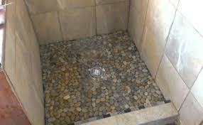 shower custom beautiful tile shower pan the guest bathroom on