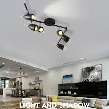 nordic background wall spotlight clothing store led track ceiling