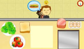 le jeu de la cuisine jeux de cuisine jeu de cuisine de sandwich