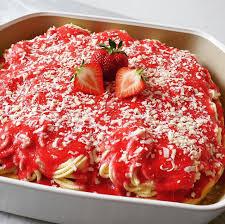 spaghetti eis kuchen