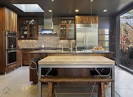 table cuisine bois exotique armoire de cuisine en placage de bois exotique f design