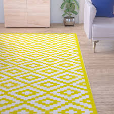 Riley Ave Kenji Yellow Outdoor Area Rug & Reviews