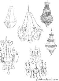 How To Draw A Chandelier In One Point Perspective Musethecollective