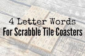 scrabble tile coaster word ideas simply darr