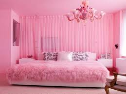 Girly Bedroom Design Best Teens Room Decorating Ideas Cute White Pink Wall Paint Chandelier Bedlinen Pillows Rug Pertaining To Living
