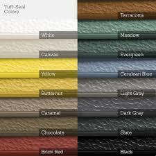 Tuff Seal Hidden Interlock Vinyl Floor Tile Colors