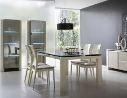 Stylish Dining Room With White Table Also Chair Of Contemporary Sets Model