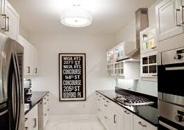 galley kitchen lighting looks lights
