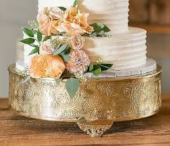 14 Gold Round Cake Stand Beautiful By ALoveStoryWedding