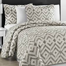 Amazon Prewashed Durable fy Bedding Chevron Quilted Gray