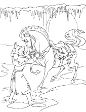 Printable Picture Frozen Knight And Horse
