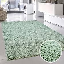 carpet city shaggy teppich hochflor langflor pastell einfarbig uni modern in mintgrün für wohnzimmer größe 300x400 cm