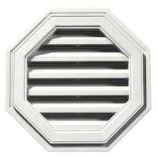 Decorative Gable Vents Products by Builders Edge 18 In Octagon Gable Vent In White 120011818123