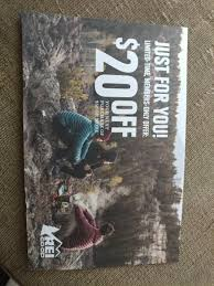 REI $20 Off Of $50 Coupon YMMV 12/4-12/17 - Slickdeals.net Get 10 Off Walmartcom Coupon Code Up To 20 Discount Rei One Item The Best Discounts And Offers From The 2019 Anniversay Sale Girl Scout October 2018 Discount Books Black Fridaycyber Monday Bike Deals Sunglass Spot Coupon Code Free Shipping Cinemas 93 25 Off Gfny Promo Codes Top Coupons Promocodewatch Rain Check Major Series New York Replacement Parts Secret Ceres Ecommerce Promotion Strategies How To Use And Columbia Sportswear Canada Kraft Coupons Amazon Labor Day Codes Blackberry Bold 9780 Deals