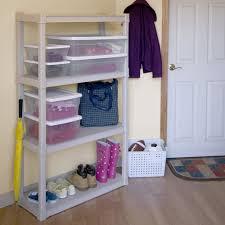 Sterilite 4 Shelf Cabinet by Amazon Com Sterilite 01648501 4 Shelf Unit With Light Platinum