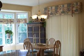 Valances For Vertical Blinds Dining Room Traditional With Breakfast Nook Custom