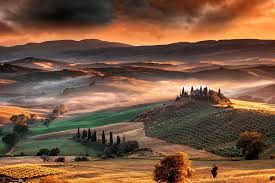 Nature Landscape Mist Sunrise Mountain Valley Tuscany Italy Wallpaper And Background