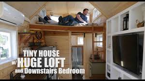 100 Tiny Loft HUGE Loft Bathtub AND A Downstairs Bedroom In This TINY HOUSE