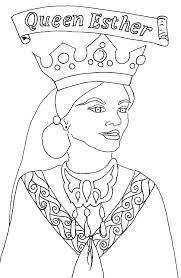 Queen Esther Picture Of Coloring Page