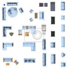 grundriss wohnzimmer möbel set bilder myloview