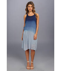 dkny indigo ombre dress in blue lyst