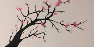 Cherry Blossom Tree Drawing Cherry Blossom Tree Drawing Easy Ngorongclub