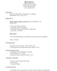 Resume Template For Students First Job Regarding Templates Example Pdf Teenager