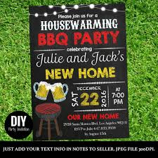 Choose The Style For Your Housewarming Party Invite Guests With This Chalkboard House Warming BBQ Printable Handmade Design On