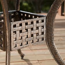 Darlee Patio Furniture Nassau by Sebastian Cast Aluminum Outdoor Dining Set In Copper Patio Table