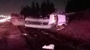 100 Tanker Truck Crash Truck Tips Over Leaks Fuel On I5 In Keizer