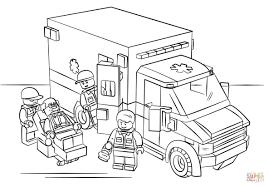 Coloriage Lego Ambulance Coloriage Ambulance Lego Coloriages