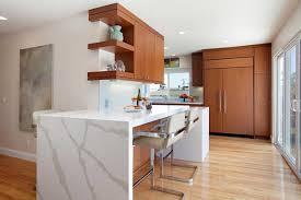 ash wood chestnut prestige door mid century modern kitchen