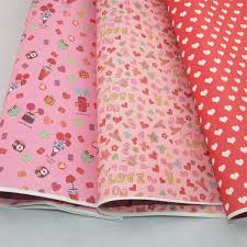 Gift Wrapping Paper 5sheets Lot Heart Design Mixed 60g DIY Packing Wedding Favors Flower