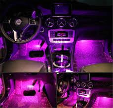 100 Led Interior Lights For Trucks Amazoncom 4Pcs Car LED Underdash Lighting Kit W Sticker