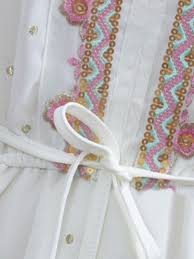 best quality beautiful original white national style sequin