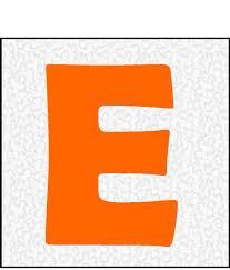 Block Letter E