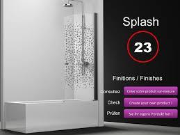 si e pivotant de baignoire paroi de longueur 65 pare baignoire battant 65 cm fixation