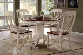 100 Round Oak Kitchen Table And Chairs 42 Lander Buttermilk Set For 4