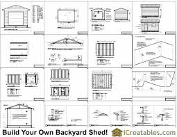 12x16 Shed Plans Material List by 12x16 Shed Plans With Garage Door Icreatables