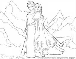 Beautiful Disney Frozen Coloring Pages With Nature And Pdf