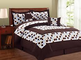 Brown And Blue Bedding by Big Dots Comforter Bed In A Bag Sets Blissful Comforts