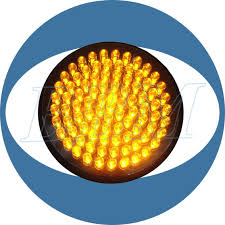 200mm yellow with fresnel lens led traffic light module 200mm