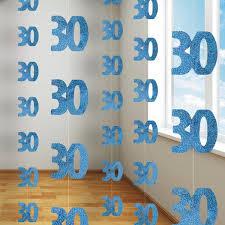 cascade d anniversaire glitz bleue 30 ans