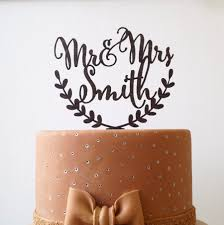 Personalized Wedding Cake Topper Mr And Mrs Custom Rustic Names