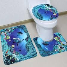 badematten set 3 teilig badvorleger wc vorleger ohne ausschnitt rutschfest für hänge wc badezimmer waschbar dusch matte teppich