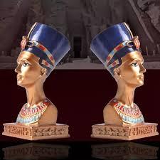 104 Eco Home Studio 1pc Retro Style Egyptian Queen Design Bust Statue Friendly Resin Figurine Decor Table Ornament Figurines Miniatures Aliexpress