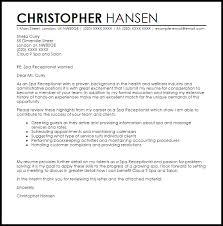 Spa Receptionist Cover Letter Sample Livecareer Rh Co Uk Resume